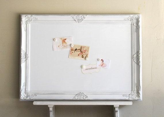 Decorative WHITEBOARD Dry Erase Board Kitchen Organizer White