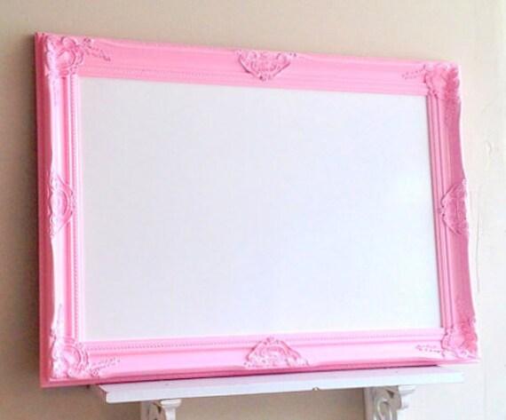 Framed Whiteboard Dry Erase Board Pink Magnetic Bulletin Board Etsy