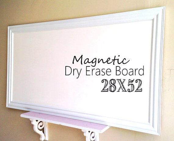WALL ORGANIZER Framed Dry Erase Board for sale Bulletin Board | Etsy