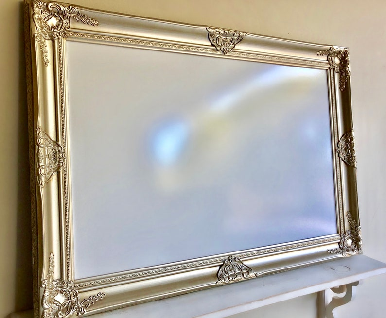 Champagne MAGNETIC DRY ERASE Board Baroque Framed Dry Erase image 0