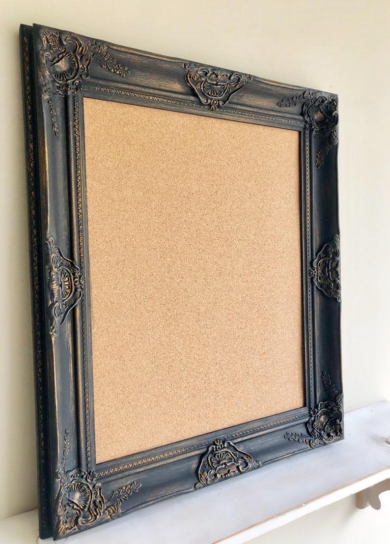 FRAMED CORK BOARD 22x26 Black Framed Cork Board image 0