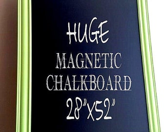 PLAYROOM Decor MAGNETIC CHALKBOARD Blackboard Black Board Home School Magnetic Chalkboard Kids Wall Decor Lime Green Neon Green Chalk Board