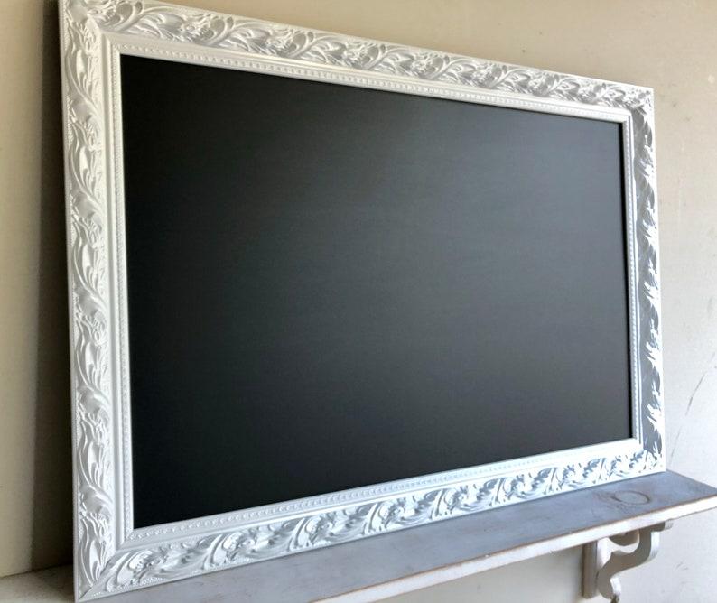 NEW SIZE Magnetic CHALKBOARD Gift for Her Framed Chalkboard image 0