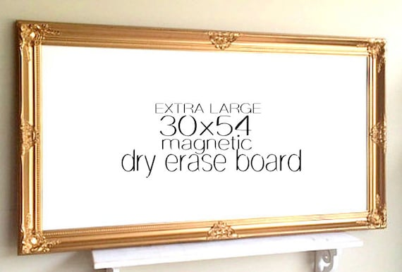 Extra Large Magnetic Whiteboard Gold And White Baroque Large Etsy