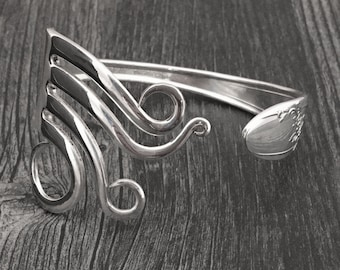 Unique Gifts for People Who Have Everything, Recycled Silverware Fork Bracelets, Liberation Pledge Jewelry, Circles Design 5