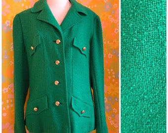 545e6072d918 Vintage 1960's Kelly Green Lord & Taylor Blazer Medium M