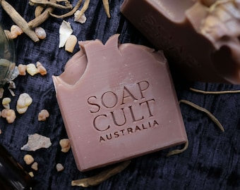 Mandrake Soap   Leather, Bergamot, Honey Scent   Witchy, Occult, Mystical   Vegan, Palm Oil Free
