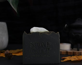 Raven Skull Soap   Smells like bats!   Spooky Body Soap Vetiver Marshmallow    Bone Halloween Bathroom Decor