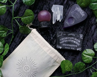 Witch Soap Gift Set   Crystal Ball, Ouija Board, Planchette and Crystal   Occult Gothic Vegan Soap