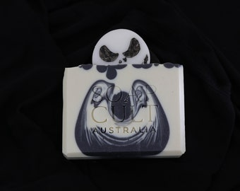 Jack Skellington Soap   Nightmare Before Christmas Inspired   Halloween Body Soap   Gin Tonic Scent