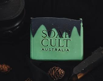 Frankenstein Soap   Horror Movie Classic   Apple Scented Vegan Body Soap