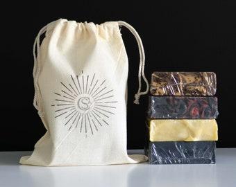 Handmade Soap Sampler   Four Mystery Soaps, Random Scents   Vegan, Palm-Free, Cruelty-Free