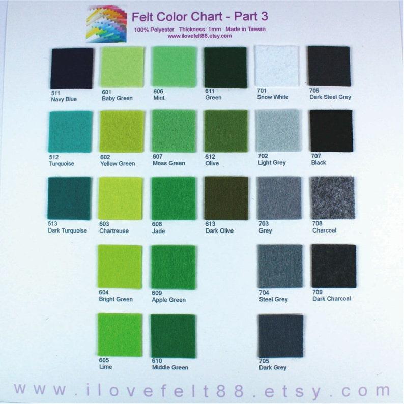 A20x20 Pick your own colors 20cm x 20cm per sheet 45 Plain Felt Sheets