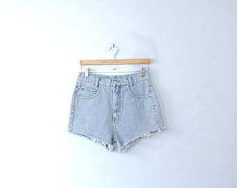 Vintage 80's high waisted shorts, cut off denim shorts, size 8 / 10