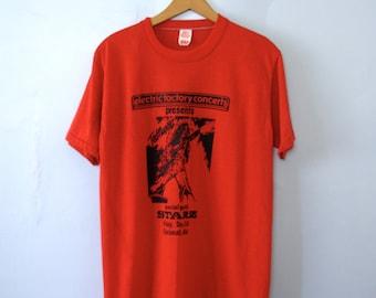 Vintage 70's Ted Nugent shirt Cincinnati Ohio concert band tee, size large / medium