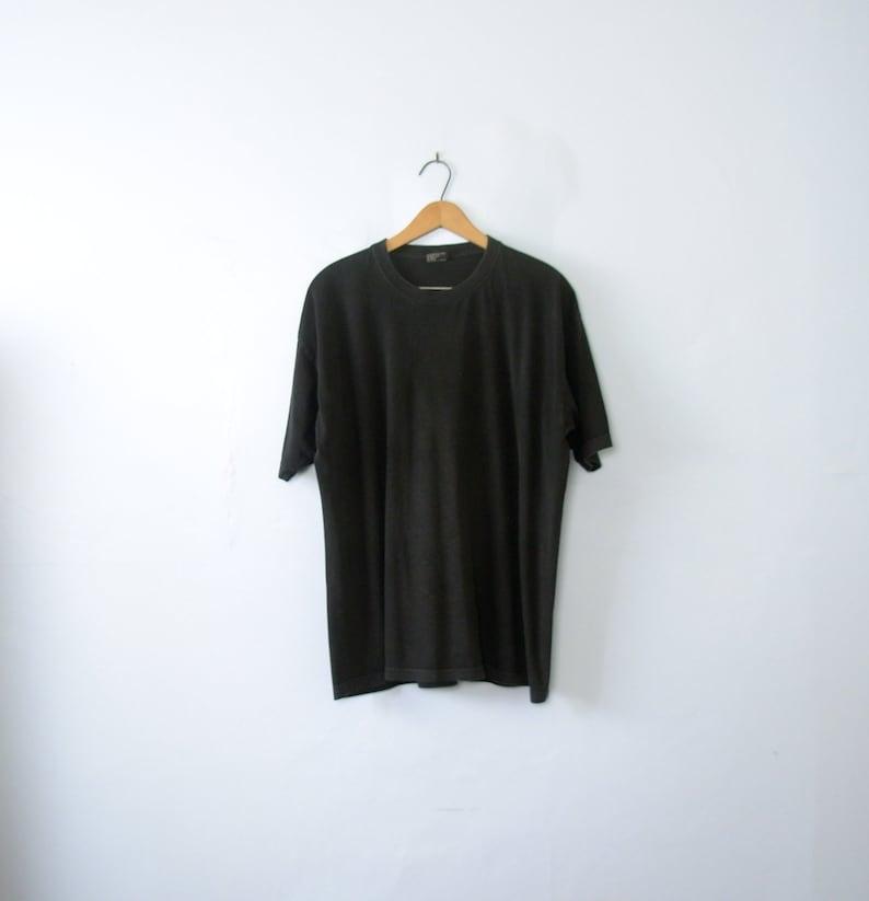 Vintage 80 s plain black tee shirt men s size XL    422f4d38c