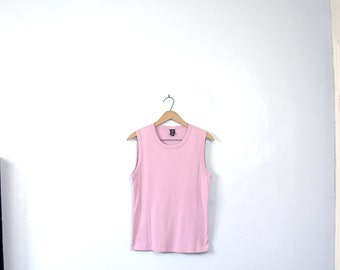 Vintage 90's dusty rose tank top, pink tank, GAP, size large