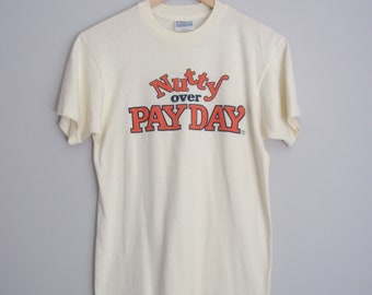 70's Nutty Payday candy tee shirt, men's size small / xs