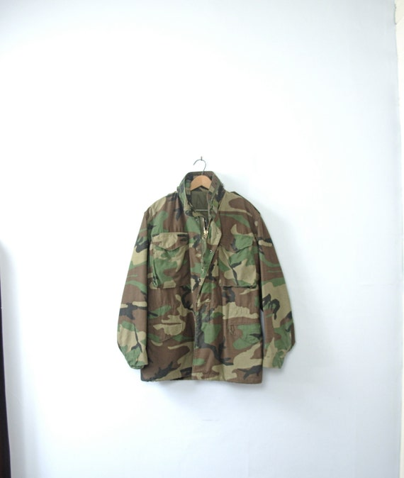 1966 M65 Field Trench Coat Camo Military Jacket Winter Outwear Tops Mens Cotton