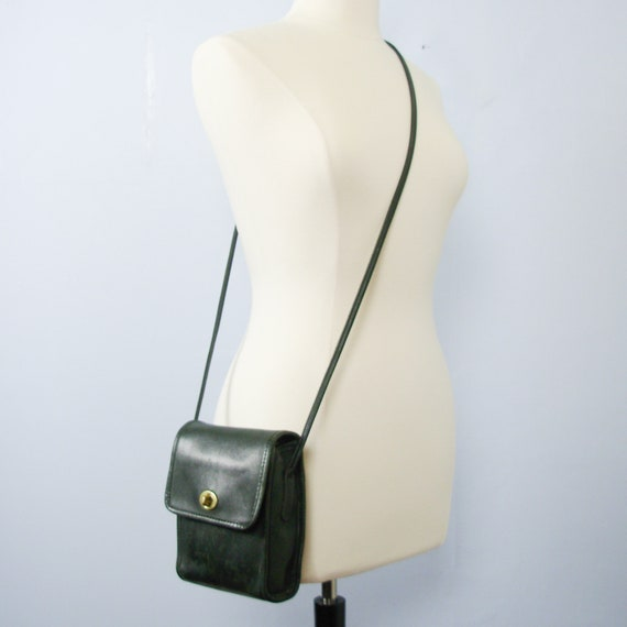 Vintage 90's Coach Scooter bag dark green leather