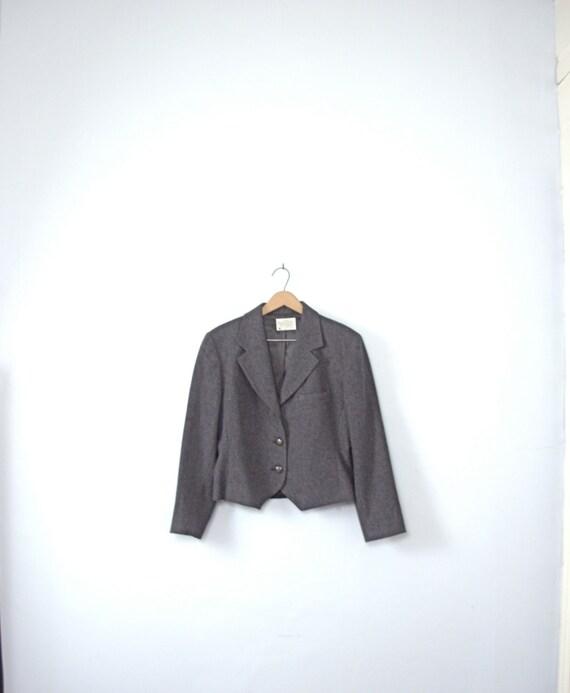 Vintage 80's equestrian jacket, charcoal grey blaz