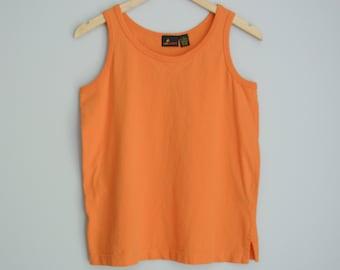 80's orange tank top, women's size small