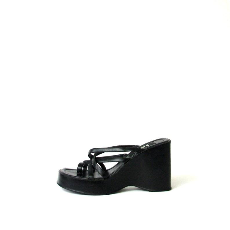 c3c4642d13c1 Vintage 90 s LEI black chunky platform sandals