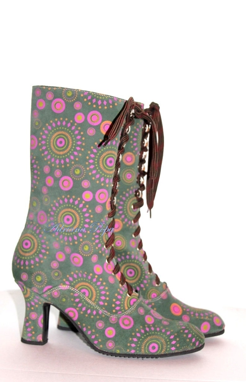 Vintage Boots- Buy Winter Retro Boots Festival Boots $208.77 AT vintagedancer.com