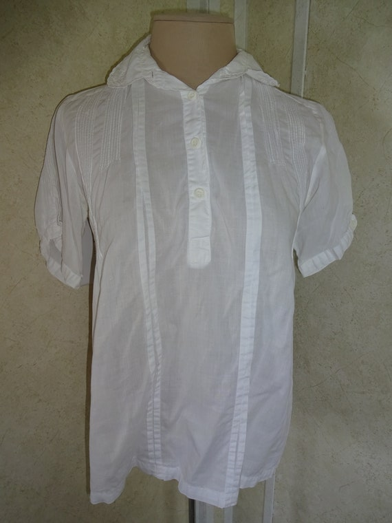 Vintage 1980s 1990s Womens White Star of India Top