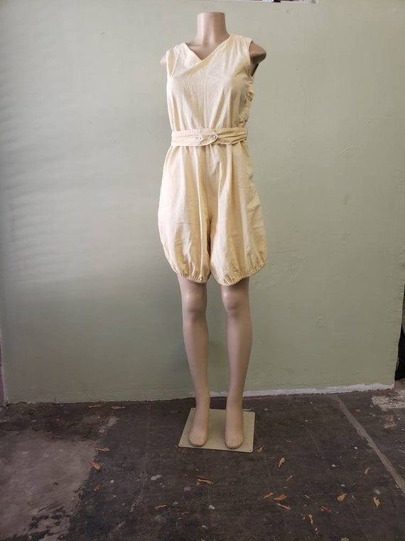 Gym romper 1940s or earlier size small in butter y