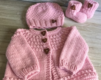 Pink Baby Sweater Etsy