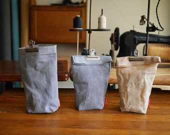Plastic Free Waxed Canvas Coffee Bag | Sustainable, Reusable Kitchen Storage | Lunch Bag