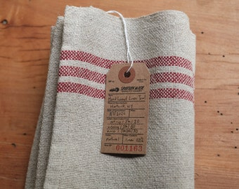 Linen Kitchen Towel Handwoven with a Mid-Century Modern Design, USA Made