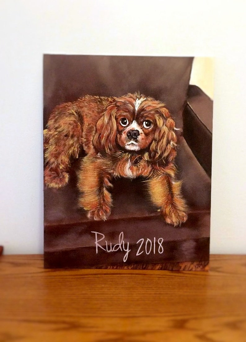 Custom hand painted dog portrait pet memorial wall art home decor pet loverBirthday giftChristmas Gift gifts for someone who lost a pet