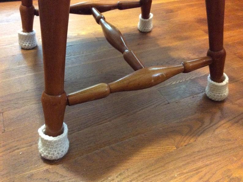 Chair Socks  Crochet Chair Leg Cozy  Floor Protector Covers image 0