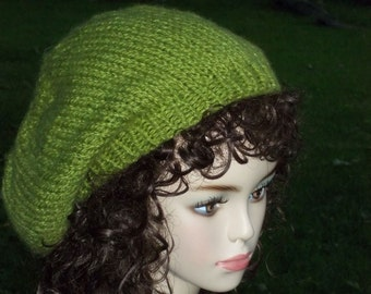 Hand Knit Slouch Hat Pattern