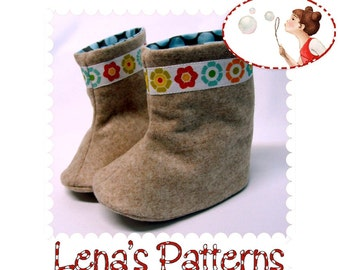 Baby Boots Sewing Pattern. Instant download PDF Baby Shoes Pattern, Booties Pattern DIY