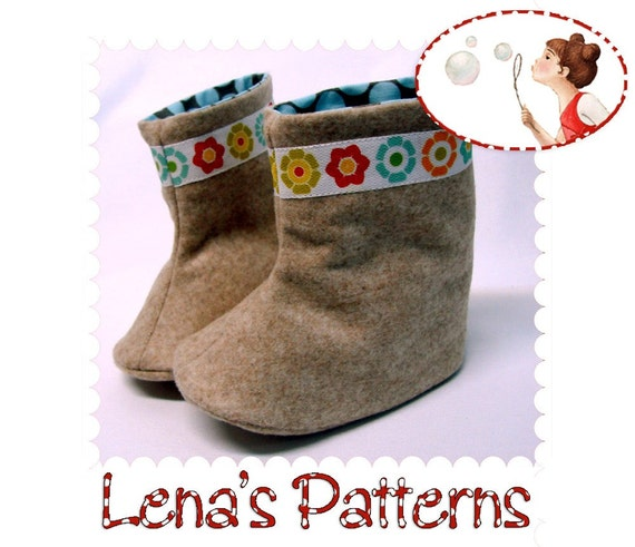 Baby Boots Sewing Pattern. Instant download PDF Baby Shoes | Etsy