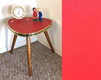 Red Formica Table, Plant Table Vintage, Formica Plant Stool, Tripod Table,  Mid Century Side Table, Plant Display Stool, Side End Table