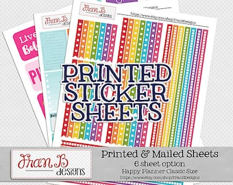 Printed & Mailed Stickers - 6 Sheets