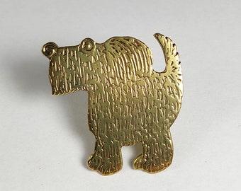 terrier brooch, dog brooch