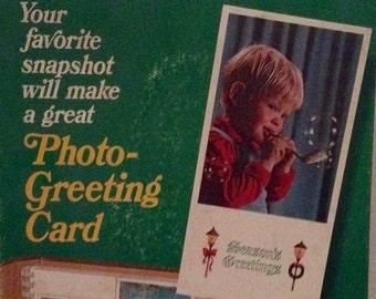 Vintage Kodak Store Display Sign Cardboard Advertising Christmas 1970s