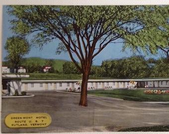 Vintage Postcard Rutland VT Green-Mont Motel Vermont Post Card 1960s