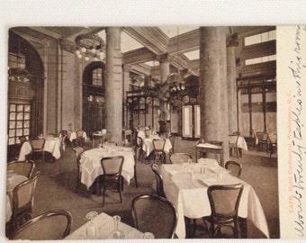 Vintage Photo Postcard 1925 Washington DC Hotel Continental Cafe RPPC