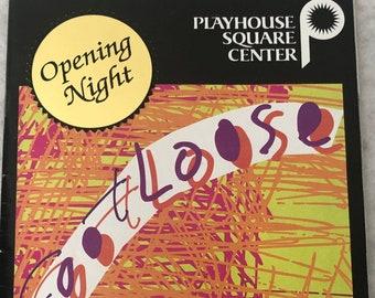 Footloose Booklet 1998 Playhouse Square Center Allen Theater Cleveland Ohio Playbill Book Opening Night Souvenir Joe Machota Niki Scalera