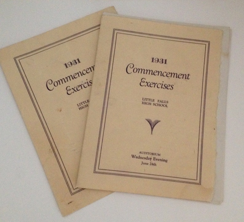 Vintage Little Falls NY High School 1931 Booklets Graduation image 0