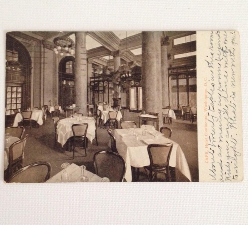 Vintage Photo Postcard 1925 Washington DC Hotel Continental image 0