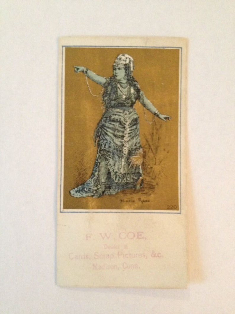 Victorian Trade Card F W Coe Madison CT Scrap Pictures Dealer image 0