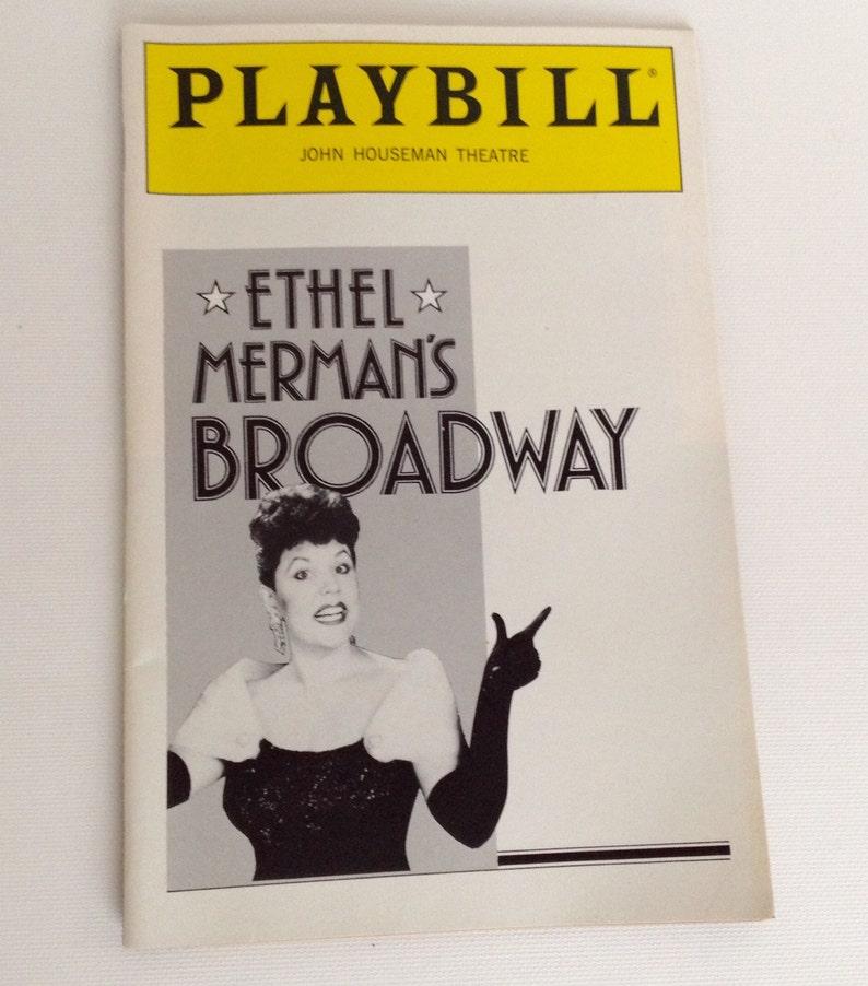 Playbill 1992 John Houseman Theatre Ethel Merman's image 0