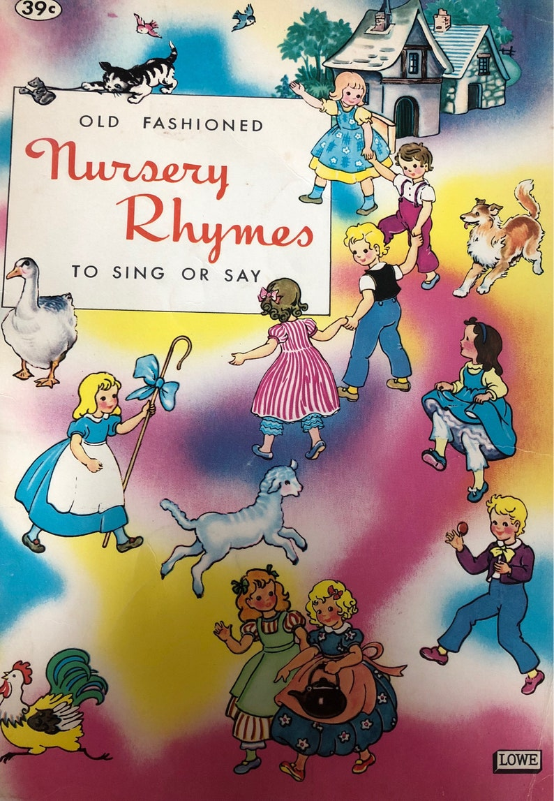 Vintage Book 1963 Old Fashioned Nursery Rhymes To Sing and Say image 0